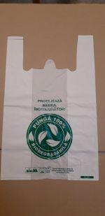 Sacosa tip maieu, folie biodegradabila  300x500